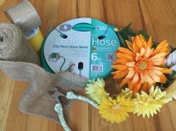Spring Garden Hose Wreath Supplies