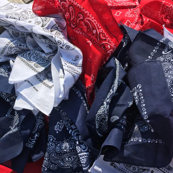 Red White and Blue bandannas