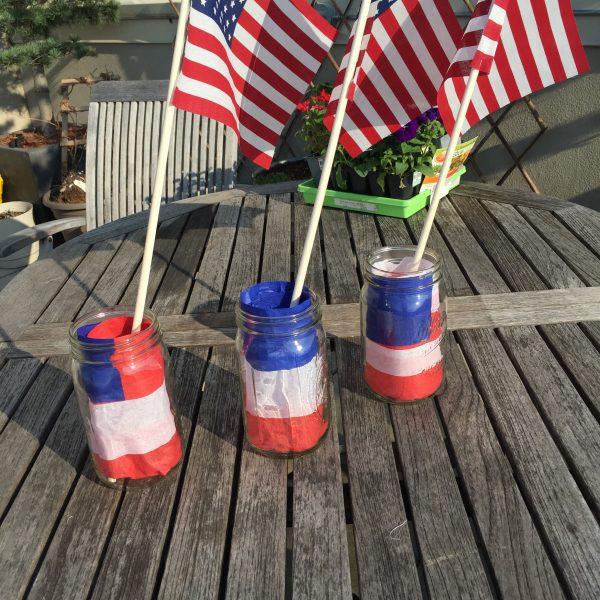 Mason Jar Flag Lanterns