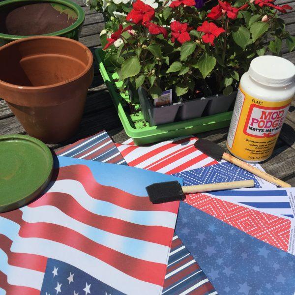 Memorial Day Planter Supplies