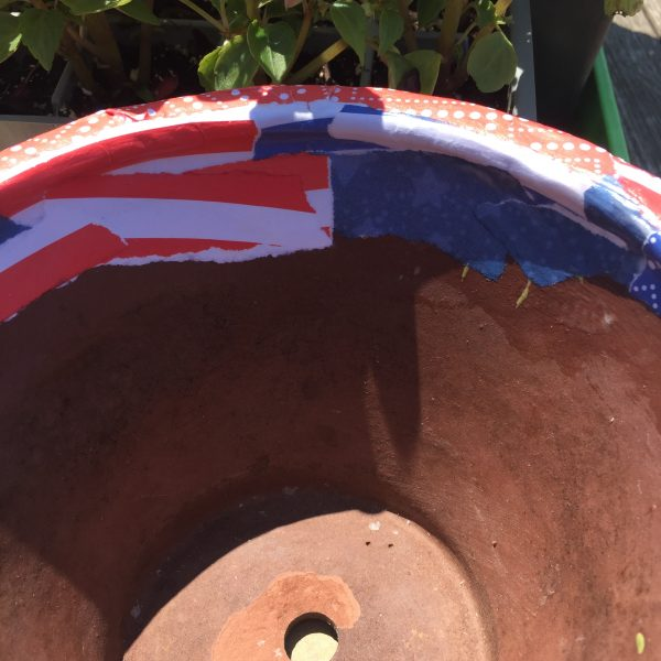 Cover Rim of Pot with paper