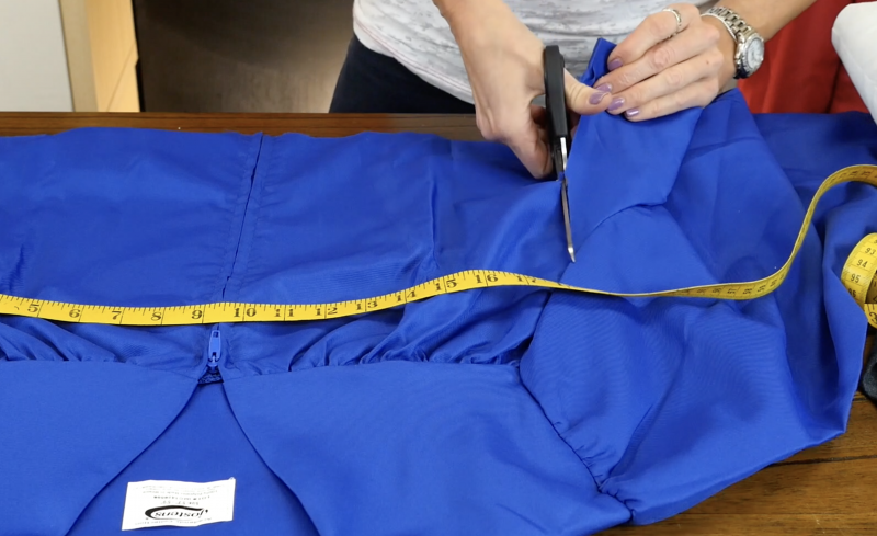 Cutting the graduation gown