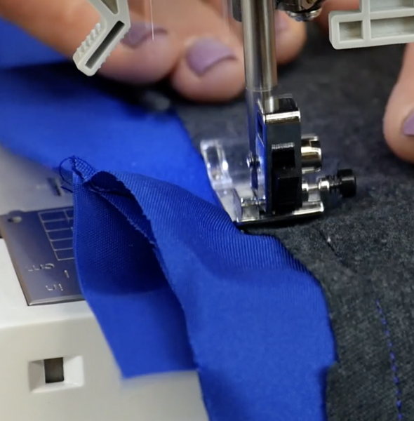 Sewing the sides together