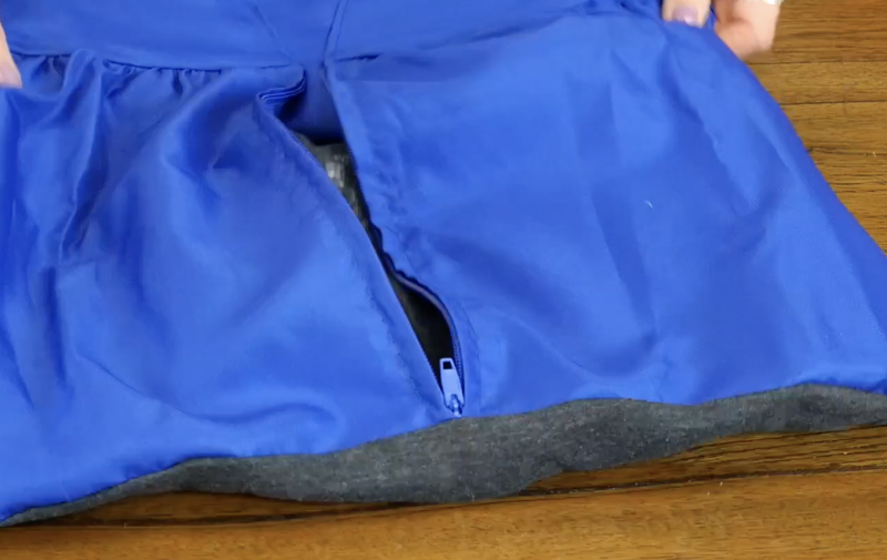 Existing zipper is the opening to insert the pillow form
