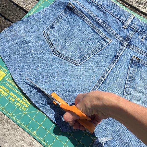 Straightening the bottom of Denim Jeans