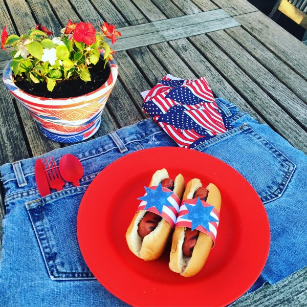 Patriotic Table-setting with Finished planter