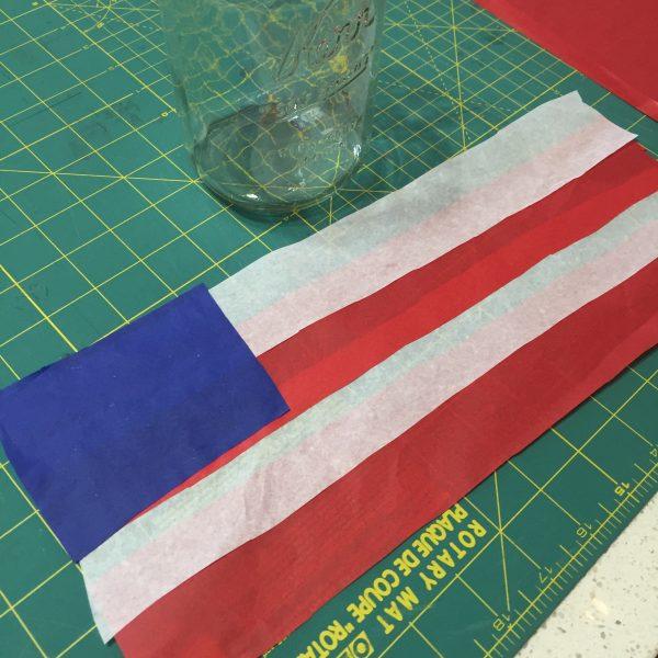 Tissue paper flag