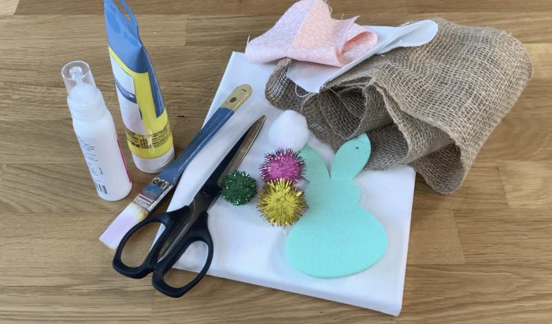 Easter Bunny Canvas Art Supplies