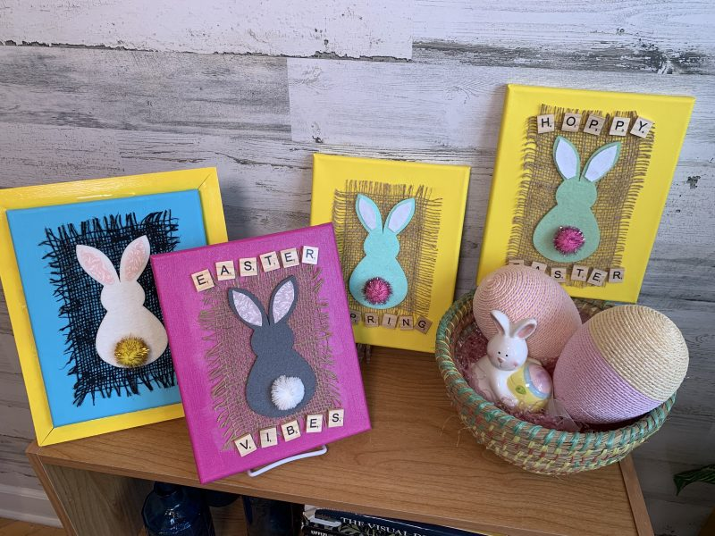Display of Easter Canvas Art