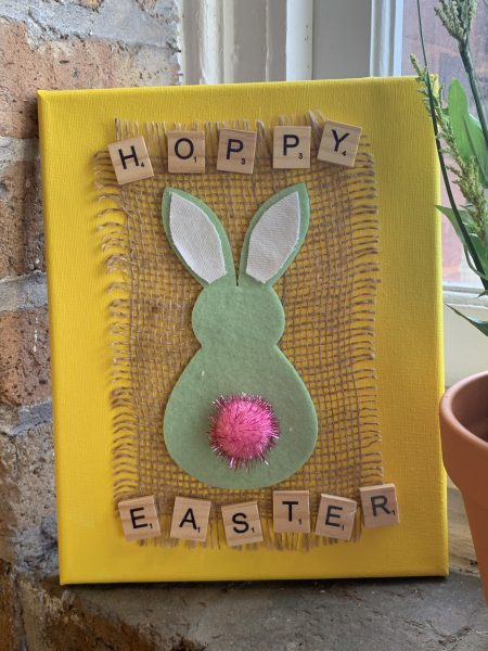 Finished Easter Canvas Art