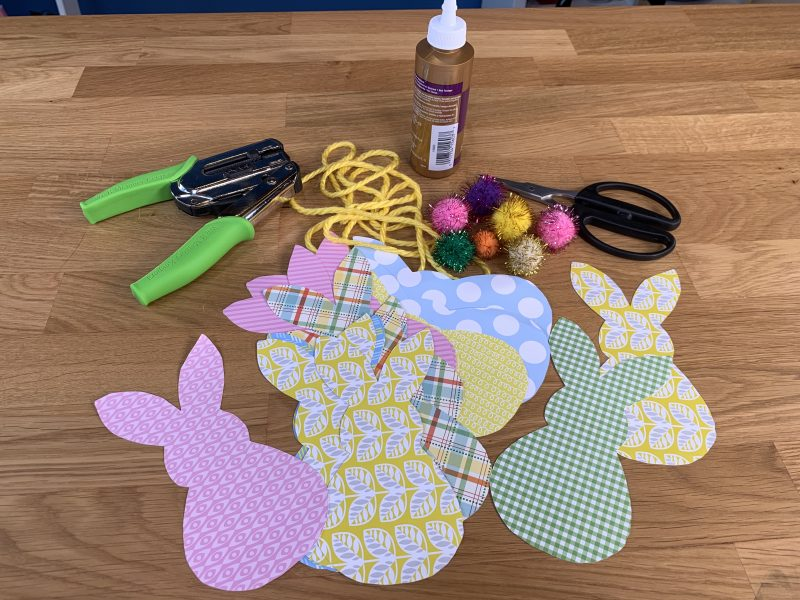 Easter Bunny Cut Out Supplies