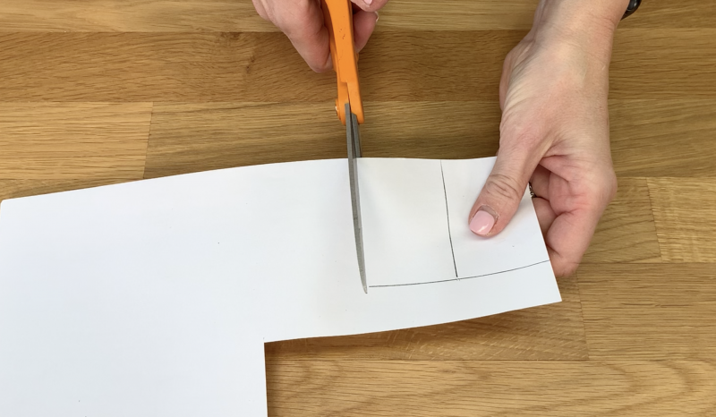 Cutting correct sized paper to fit the frames