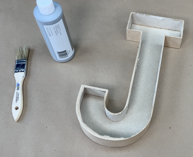 Cut out letter and paint