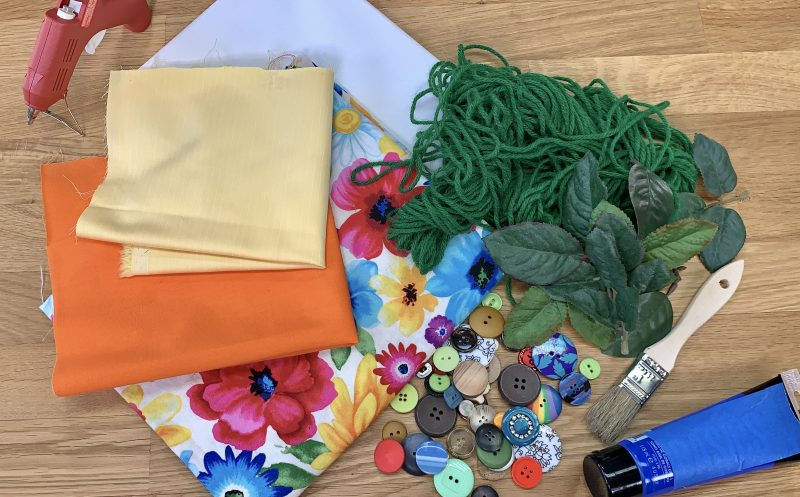Blooming Canvas art project supplies