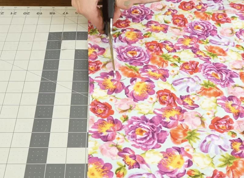 Cut 1 inch strips of fabric