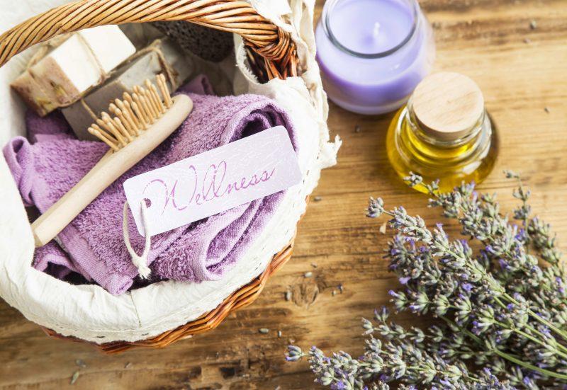 Lavender Spa basket for wellness