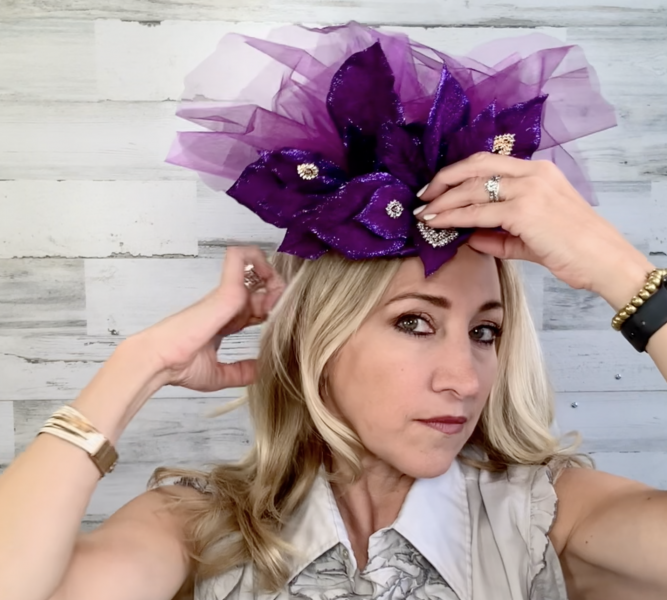 Adjusting the placement of the fascinator