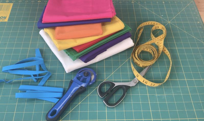 Papel Picado Supplies using fabric