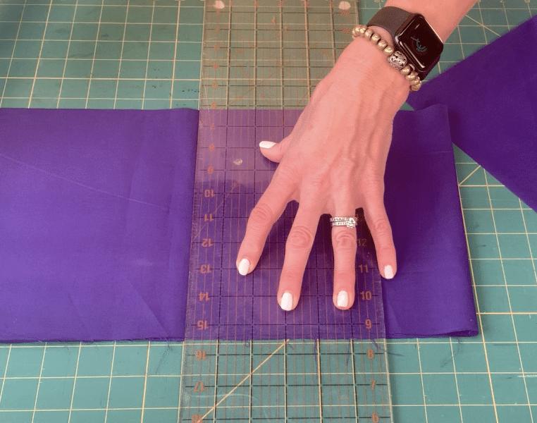 Cutting fabric 9x9