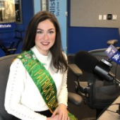 St Patrick'S Day Queen, Madeline Mitchell, joins Pete & Jane on WGN Radio